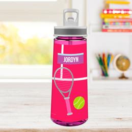 Girl Tennis Fan Sports Water Bottle