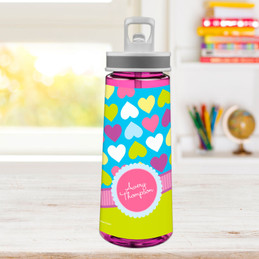 Happy Hearts Sports Water Bottle