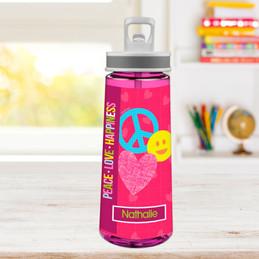 Peace & Love Signs Sports Water Bottle