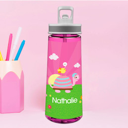 Turtle And Happy Bird Sports Water Bottle
