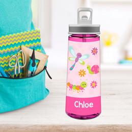 Three Sweet Little Bugs Sports Water Bottle