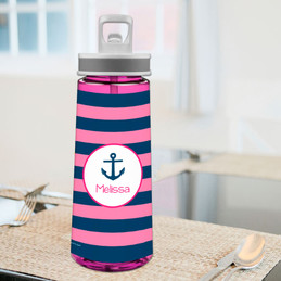 Let's Sail Pink Sports Water Bottle