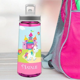 Pretty Heart Castle Sports Water Bottle