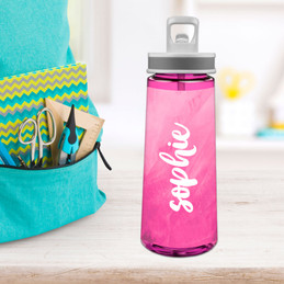 Bold Colorful Name Sports Water Bottle