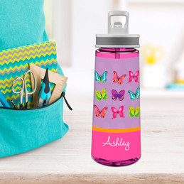 Bright Butterflies Sports Water Bottle