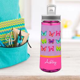 Bright Butterflies Sports Water Bottle