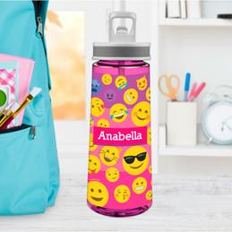 Girl Emojis Sports Water Bottle