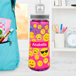 Girl Emojis Sports Water Bottle