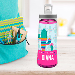 Colorful Cactus Sports Water Bottle