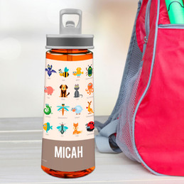 Sweet Animal Chart - Brown Sports Water Bottle