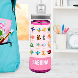 Sweet Animal Chart - Pink Sports Water Bottle