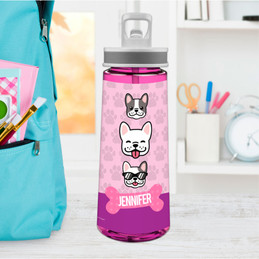 Cool Dogs Pink Sports Water Bottle