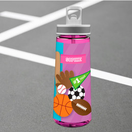 Girl Love For Sports Water Bottle