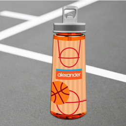 Boy Basketball Fan Sports Water Bottle