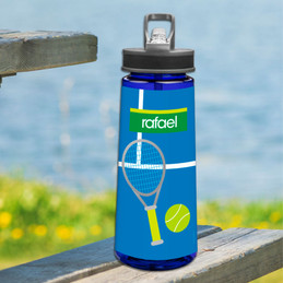 Tennis Fan Boy Sports Water Bottle