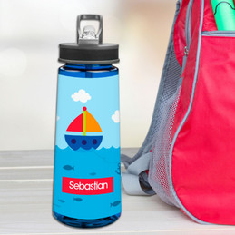 Sailing The Blue Ocean Sports Water Bottle