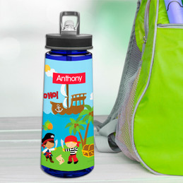 Yo Ho Pirate Boy Sports Water Bottle
