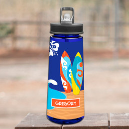 Surf The Waves Sports Water Bottle