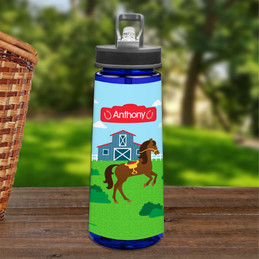 Cute Race Horse Sports Water Bottle
