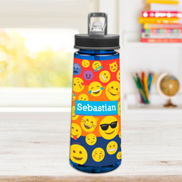 Boy Emojis Sports Water Bottle