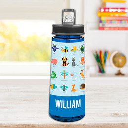 Sweet Animal Chart - Blue Sports Water Bottle