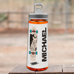 Cool Boy Skateboard Sports Water Bottle