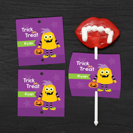 Halloween Monster Lollipop Cards
