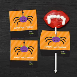 Cute Spider Lollipop Cards