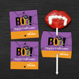 Boo Spider Lollipop Cards