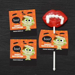 Scary Mummy Lollipop Cards