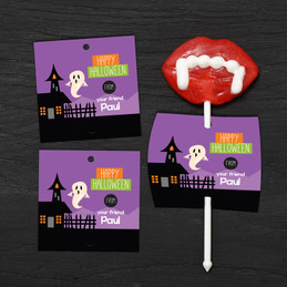 A Ghost In The Town Lollipop Cards