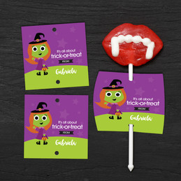 Sweet Little Witch Lollipop Cards