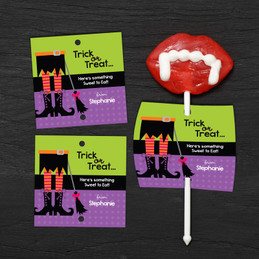 Witch Boots Lollipop Cards