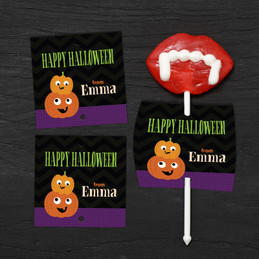 Spooky Pumpkins Lollipop Cards