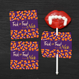 Yummy Candy Corns Lollipop Cards