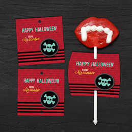 Halloween Skull Lollipop Cards