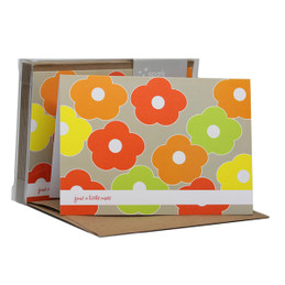 Check Out Our Boxed Note Cards | Flower Bunch Pale Green