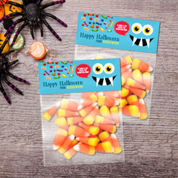 Smiley Monster Blue Treat Bags