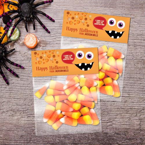 Smiley Monster Orange Treat Bags