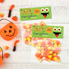 Smiley Monster Green Treat Bags