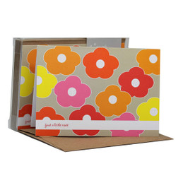 Boxed Note Cards - Flower bunch (Pink)