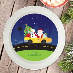 Santa In His Cool Ride Holiday Bowl