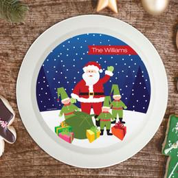 Santa And Elves Holiday Bowl