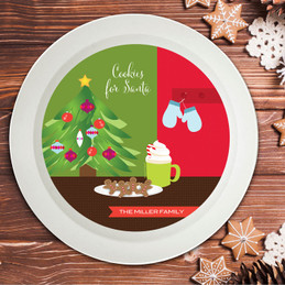 Xmas Cookies And Cocoa Holiday Bowl