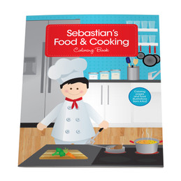 A Boy Chef Coloring Story Book