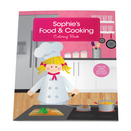 A Girl Chef Coloring Story Book