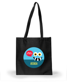 Smiley Monster Blue Halloween Bag