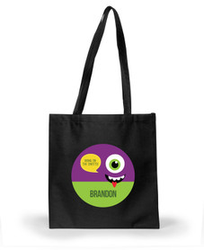 Smiley Monster Purple Halloween Bag