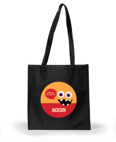 Smiley Monster Orange Halloween Bag