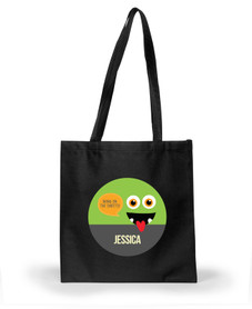 Smiley Monster Green Halloween Bag